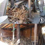 木くず240キロ処分、木材リサイクル施設に運び入れる