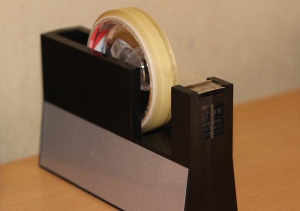 ニチバン テープカッター直線美(黒)大巻用