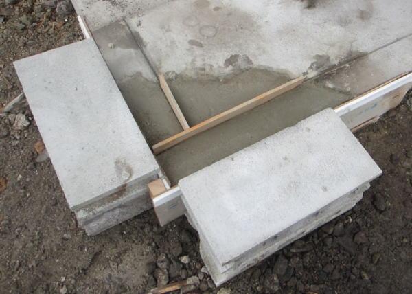 家の四隅のコンクリート