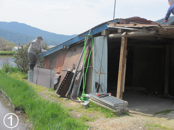 車庫を解体
