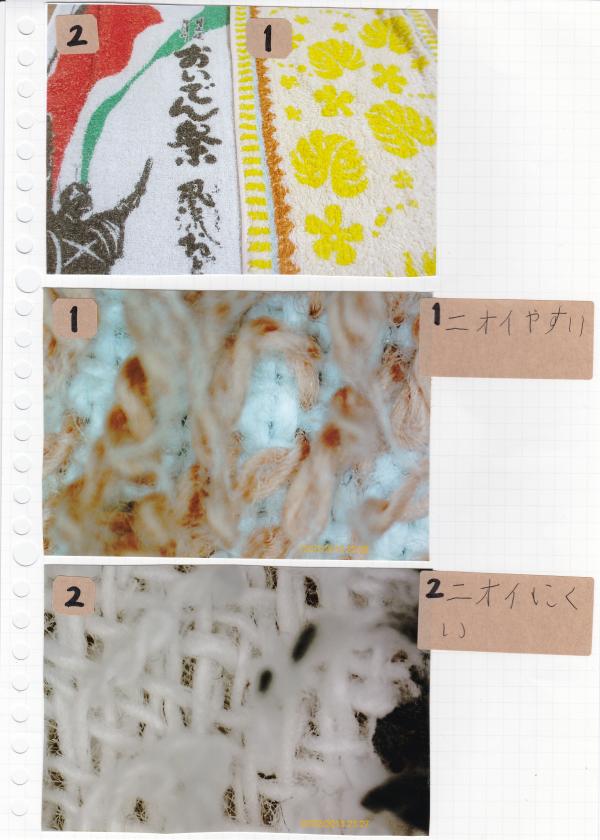 衣類(顕微鏡カメラ)
