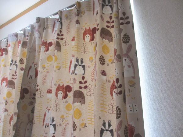 ハリネズミのカーテン