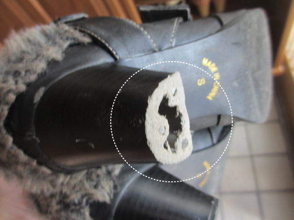ブーツの断捨離