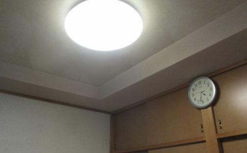 台所の食卓の照明を変える