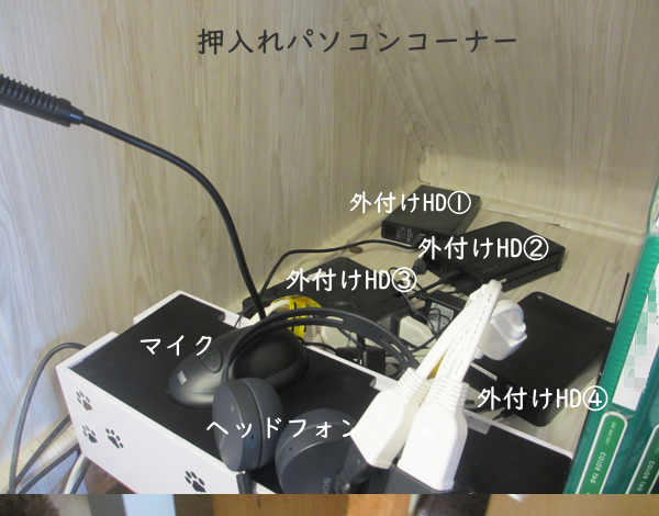 外付けハードディスクの整理整頓