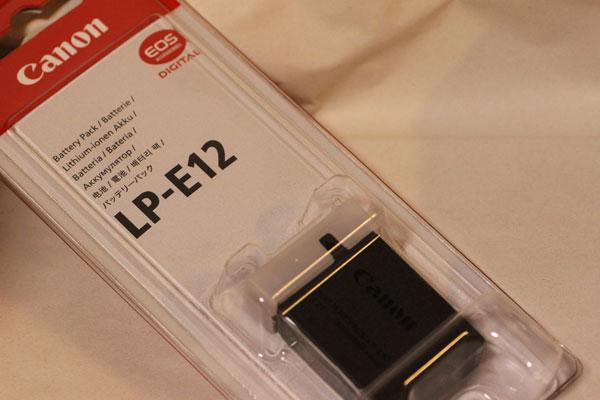 Canon バッテリーパック LP-E12