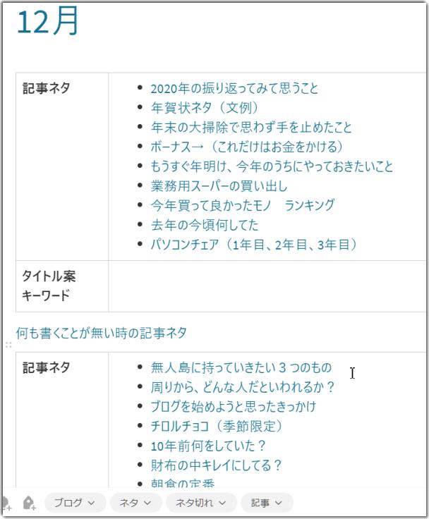 Evernote (エバーノート)ネタ帳