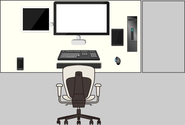 私の作業スペース