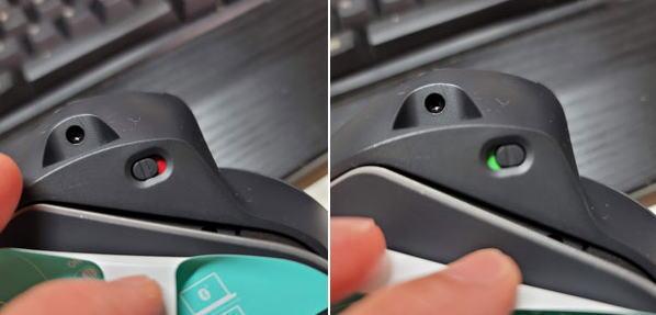 スイッチは小さいけど色は分かりやすい